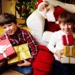 Boys with gifts — Stok fotoğraf