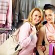 krásné nakupující — Stock fotografie