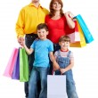 Family with gifts - Stockfoto