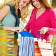 Girlfriends shopping - Stockfoto