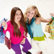 Royalty-Free Stock Photo: Happy shoppers