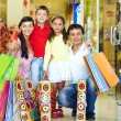 Shopping family — Stock Photo