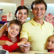 Stock Photo: Family at shop