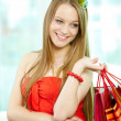 Shopper with bags - Stok fotoraf