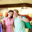 Couple of shopaholics — Stock Photo #11673550