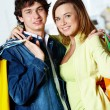 Pair of shoppers — Stock Photo