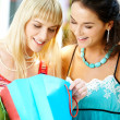 Looking through shoppings — Stock Photo