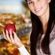 Apple lover - Stock Photo