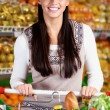 Stock Photo: Female in supermarket