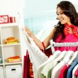 Choosing new dress — Stock Photo