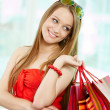 Shopper with bags — Stock Photo