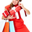 Buying gifts — Stock Photo