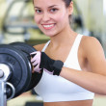 Girl in gym — Stock Photo