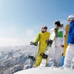 snowboardzistami — Zdjęcie stockowe