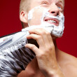 Royalty-Free Stock Photo: Man shaving