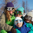 Team of snowboarders - Stock Photo