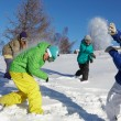 Playing snowfight — Stock Photo #11674297