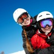 Couple of snowboarders — Stock Photo #11674368