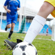 Stock Photo: Playing soccer