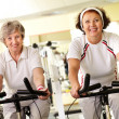 Fitness for seniors - Stock Photo