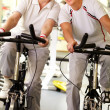 Stock Photo: Seniors exercising