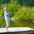 Kid fishing — Foto de Stock