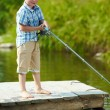 Little fisher — Stock Photo