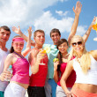 Stock Photo: Party on beach