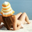 Getting tanned — Stock Photo