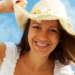 Girl in hat — Stock Photo #11675299