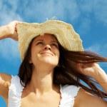 Girl in hat — Stock Photo #11675305
