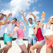 Party on beach — Stock Photo