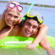 Stock Photo: Couple in water
