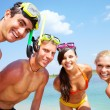Friends on vacation — Stock Photo