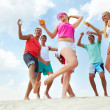 Dancing on sand — Stock Photo