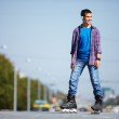 Lad on roller skates — Stock Photo #11676300