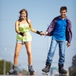 Couple of roller skaters — Stock Photo #11676305