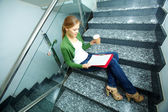 Busy student — Stock Photo