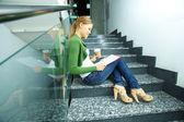 Student reading — Stock Photo