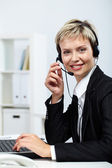 Busy and resilient secretary — Stock Photo
