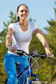 Riding a bicycle — Foto Stock