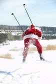 Santa hasting — Stockfoto