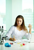 Chemist at work — Stock Photo