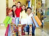 Winkelen familie — Stockfoto