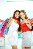 Glamorous shopaholics — Stock Photo