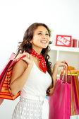 Dívka nakupování — Stock fotografie