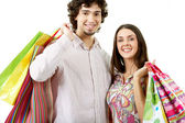 Nöjda shoppare — Stockfoto