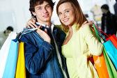 Paar van de shoppers — Stockfoto