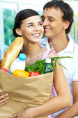 Amorous shoppers — Stock Photo
