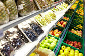 Fruits in supermarket — Stock Photo